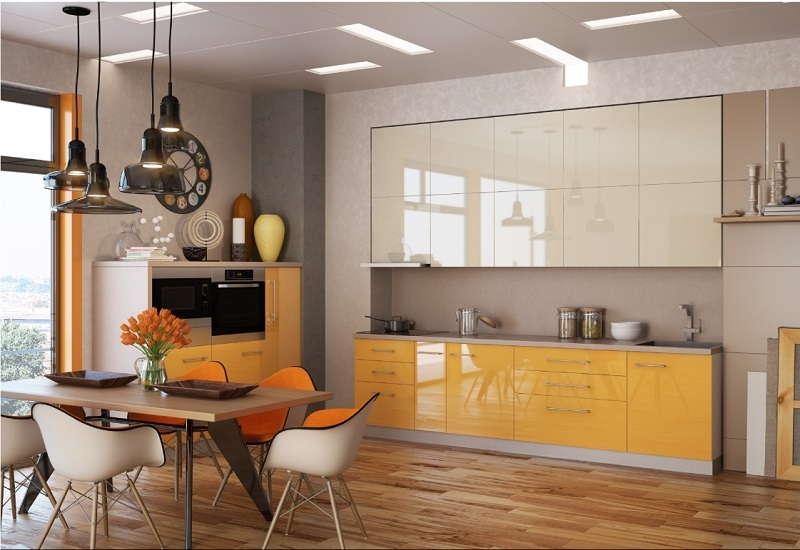 Фото прямые кухни в интерьере фото